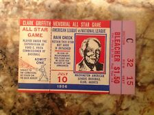 1956 All Star Ticket Ted Williams, Stan Musial, Mickey MANTLE, Willie Mays HR