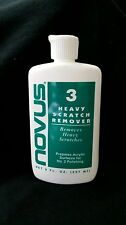 Novus Plastic Polish #3 8 oz  bottle of Heavy Scratch Remover