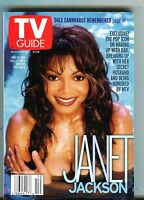 TV Guide Magazine March 10-16 2001 Janet Jackson (Blue) EX No ML 101316jhe