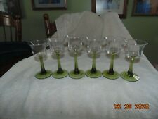 """6 PartyLite """"Radiant Glow Trio"""" Green Stemmed Candle Holders P7998"""