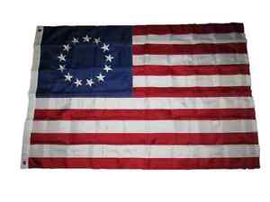 4x6 Embroidered Sewn Betsy Ross 210D Nylon Flag 4'x6' HEAVY DUTY FABRIC