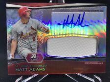 Matt Adams 2012 Bowman Platinum Jumbo Relics Autographs Refractors