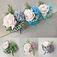1PC Handmade Wedding Best Man Groom Boutonniere Artificial Flower Rose Decor