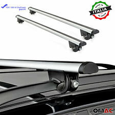 Roof Rack Cross Bars Luggage Carrier Silver Fits Volvo V50 2004-2013