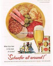 1959 SCHAEFER Beer Antipasto Salad Plate Vtg Print Ad