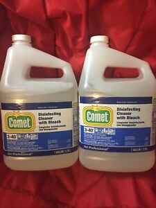 (2) 1 Gallon Jugs Of Comet Disinfectant Cleaner With Bleach - P&G Professional -
