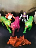 He-Man Vintage MOTU Masters Of The Universe Action Figure Lot Skeletor Battle