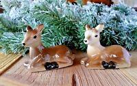 Set of Salt & Pepper Shakers Sitting Deer  Ceramic Set   NEW