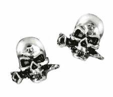 Alchemy England - Alchemist Studs, Earrings, Skulls Rose Metal, Pewter Gothic