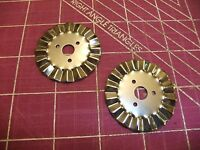 2- 45 MM ROTARY CUTTER PINKING BLADES - fits Olfa, Clover, Fiskars and more