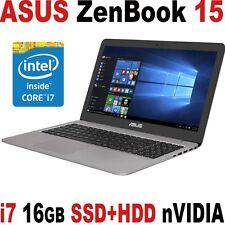 """Asus Zenbook Pro 15.6"""" FHD i7 16GB 1TB SSD+ 1TB nVIDIA 960M GTX Laptop UX510UW"""