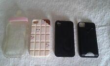 4 Coques pour Iphone 4 ou 4S