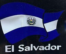 El Salvador Pride El Salvadorian National Flag Car Decal Sticker