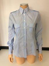 Dolce & Gabbana d&g Blau & Weiß Streifen Bluse Shirt Größe 42 UK 8 VGC