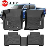 All Weather Floor Mats Liners for 2018-2021 Toyota Tacoma Crew Cab Protection