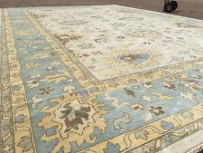 12x18 Rug New Hand Knotted Wool Woven Ivory Ushak Oushak 12 X 18 Area Persian 11
