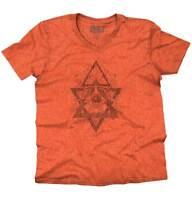 Spiritual Wheel Geometric Graphic Symbolic V-Neck Tees Shirts Tshirt T-Shirt