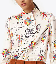 Tory Burch VANCE BOW SILK BLOUSE - Size 10 (New with Tags) $398