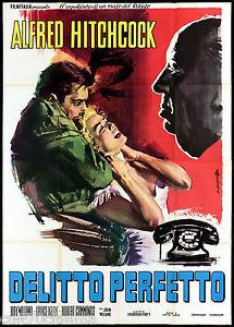 IL DELITTO PERFETTO MANIFESTO FILM ALFRED HITCHCOCK GRACE KELLY MOVIE POSTER 4F