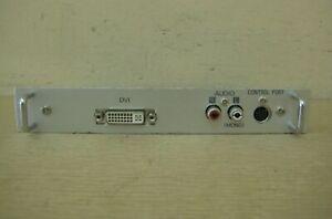 Panasonic Sanyo Christie MD18DVI-04 Projector DVI RCA Input Board Free Shipping