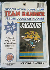 """Jacksonville Jaguars 2 Sided Team Banner Flag 44"""" x 28"""" - Vintage"""