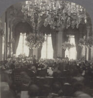 WW1 Stereoview. Peace Conference. French Foreign Office, Quai d'Orsay, Paris