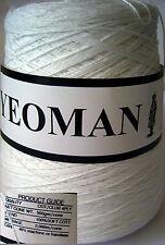 Yeoman Hilo 400 g 4 capas Algodón A Mano/Máquina Para Hacer Punto Blanco Y216.01