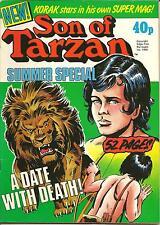 KORAK SON OF TARZAN UK SUMMER SPECIAL 1980 KORAK EDGAR RICE BURROUGHS BYBLOS