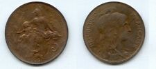 **gertbrolen 5 Centimes bronze Type Dupuis  1906