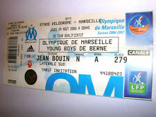 ticket OLYMPIQUE Marseille - YOUNG BOYS Bern 24.08.2006