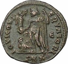 Constantine I The Great 313AD Ancient Roman Coin Jupiter Cult Eagle i40871
