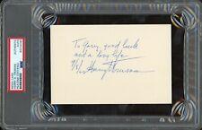 President Harry S. Truman Signed Index Card Psa/Dna Loa w/ Dinner Program