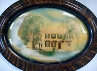 Antique Milford Delaware House Convex Bubble Glass Tiger Woods Frame Photo...