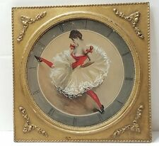 French CanCan Dancer Folies Bergere' Moulin Rouge Burlesque Framed Lithograph