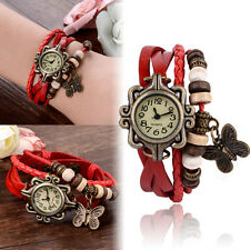 Fashion Women's Quartz Movement PU Leather Bracelet Wrist Watch Jewelry Gift