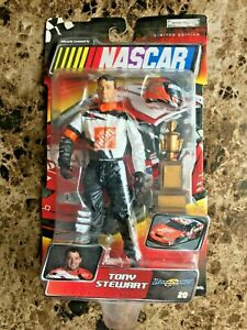2003 Jakks Pacific Nascar  Tony Stewart with Trophy & Helmet