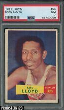 1957 Topps Basketball #54 Earl Lloyd Nats PSA 7 NM