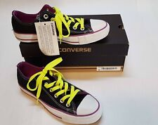 3a93d745cf1d NEW Converse All Star Double Tongue Black Purple Neon Lime 5 Mens 7 Womens
