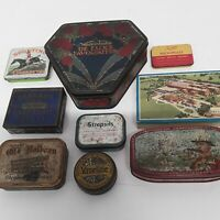 Vintage Collectable Tins Job Lot Assorted X 9 Varied Sizes All Original