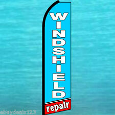 Windshield Repair Flutter Feather Flag Advertising Sign Bow Banner Swooper 1523