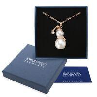 Collana oro Swarovski Elements originale G4Love cristalli Pupazzo di neve regalo