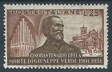 1951 ITALIA GUSEPPE VERDI 25 LIRE MH * - RR13931