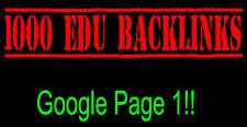 Premium 3,000 EDU Link Building SEO Domain Backlinks FIRST Page of Google!