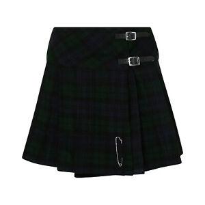 "Tartanista Womens Scottish Tartan 16.5"" Length Mini Kilt Skirt and Pin - 6-28"
