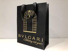 Used - BULGARI BVLGARI - bolsa Negra - Black paper bag - 32,5 x 26,5 x 11,5 cm