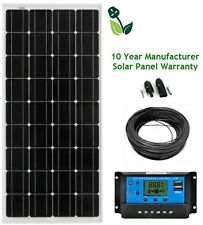 150W Mono LCD Solar Panel Kit 10 Year Panel Warranty Caravan Sheds Van Motorhome
