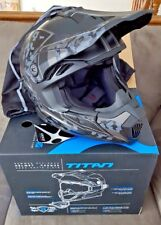 NIB New CKX TITAN Summer Off Road Modular Helmet Grey Mat Sandstorm Small