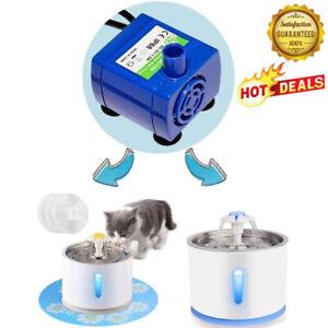 2.4L Automatic USB LED Electric Pet Water Fountain Dispenser Pump Cat/D Q6Y2