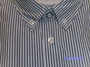 Bogner Herrenhemd Weiß/ Blau gestreift Gr. XL