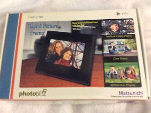 "Matsunichi 7"" Digital Photo Frame New in Box"